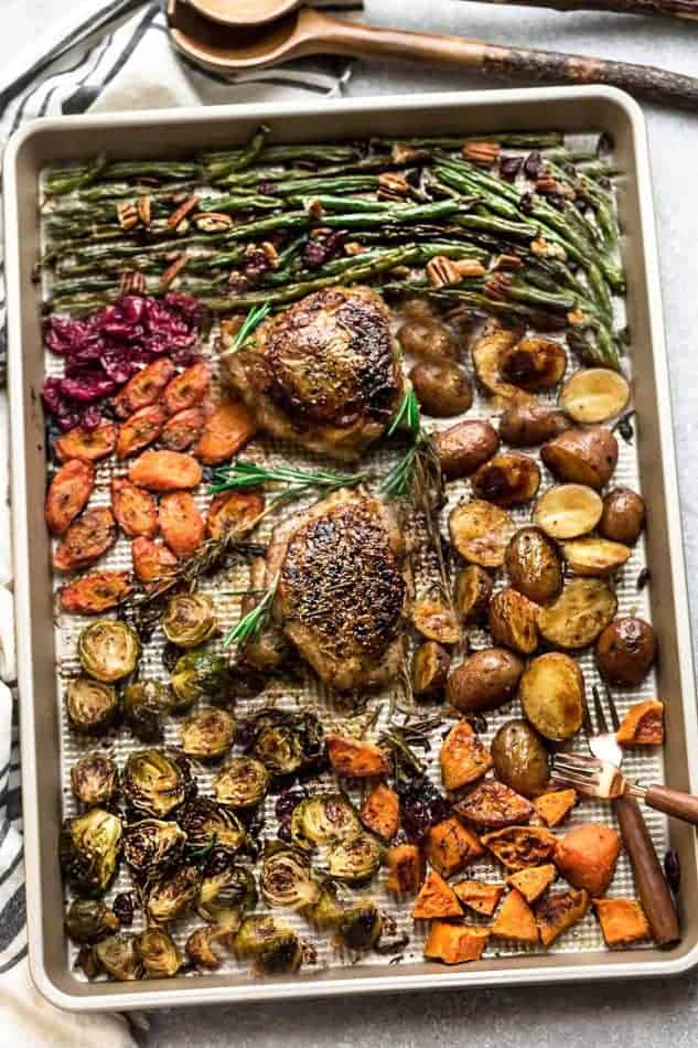 Sheet Pan Thanksgiving Dinner Easy One Pan Turkey Meal