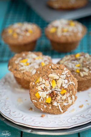 Skinny Mango Banana Muffins