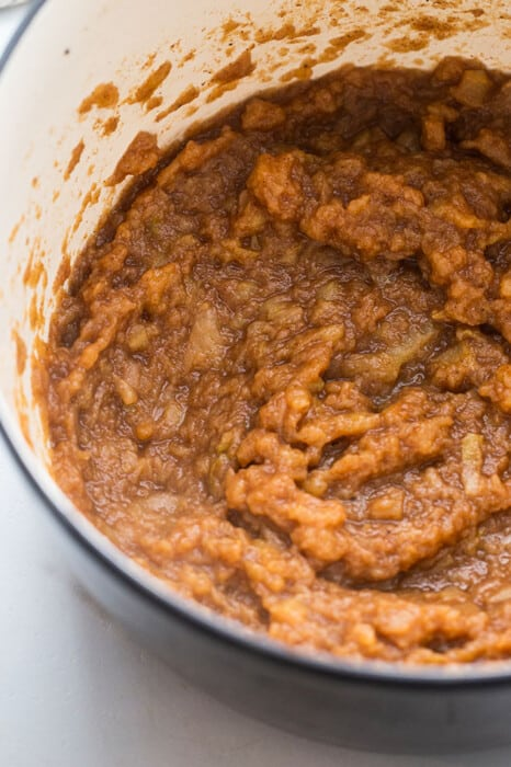 Overhead view of Slow Cooker Apple Butter
