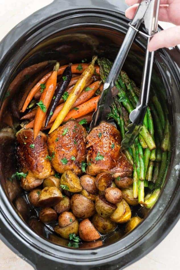 Slow Cooker Harvest Chicken And Vegetables Easy Crock Pot Dinner