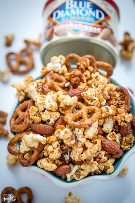 Slow Cooker Caramel Popcorn makes an easy & tasty snack.