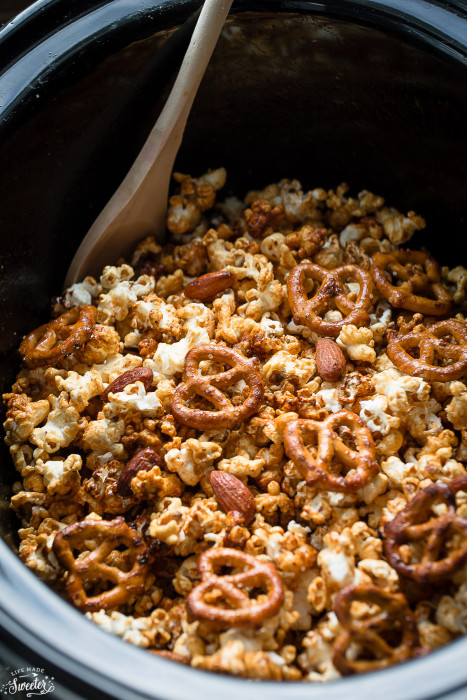 Slow Cooker Caramel Popcorn makes the perfect easy snack.