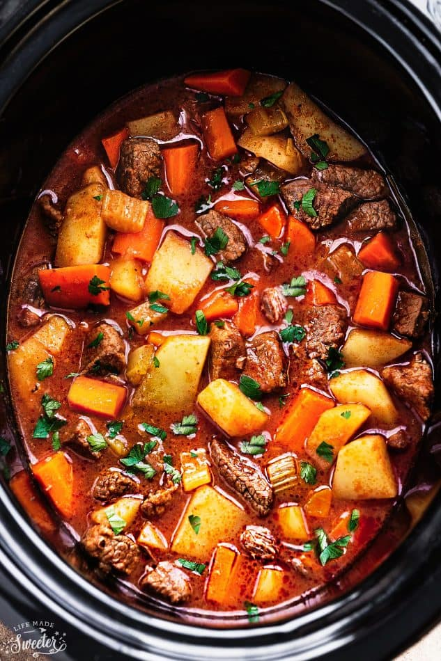 Slow Cooker Homemade Beef Stew Makes The Perfect Comforting Dish On A Cold Day Best