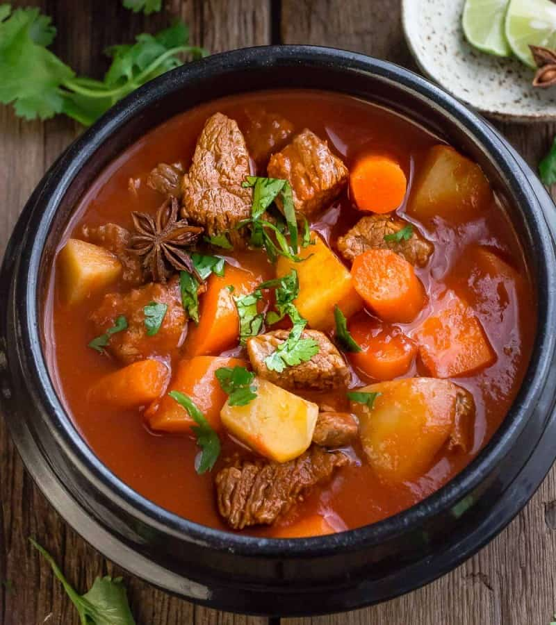 Slow Cooker Homemade Beef Stew makes the perfect comforting meal. Best of all, it simmers in the crock-pot for extra flavor.