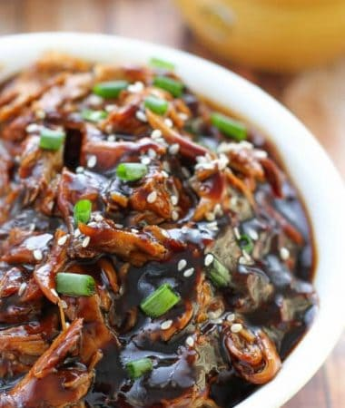 Slow Cooker Honey Garlic Chicken makes the perfect weeknight meal