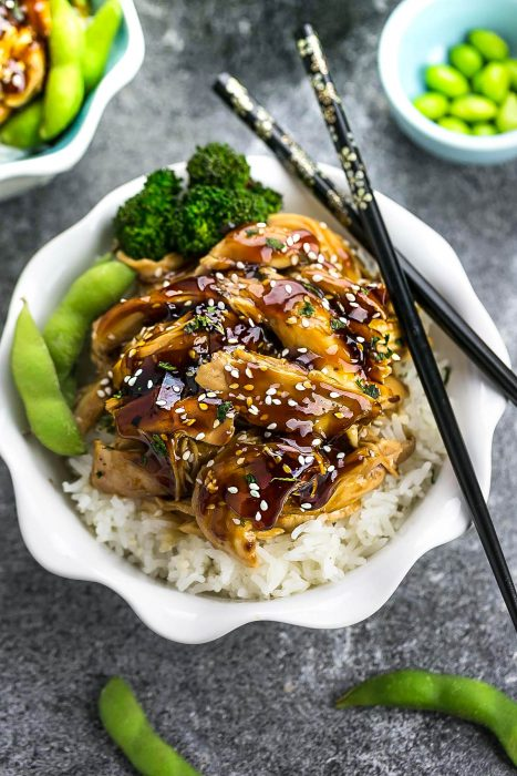 Slow Cooker Chicken Teriyaki (+ Instant Pot)