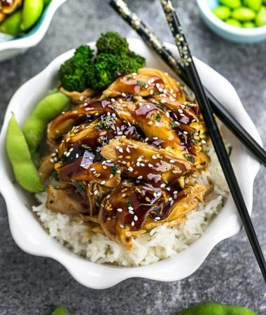 Slow Cooker Chicken Teriyaki (+ Instant Pot) + Recipe VIDEO!