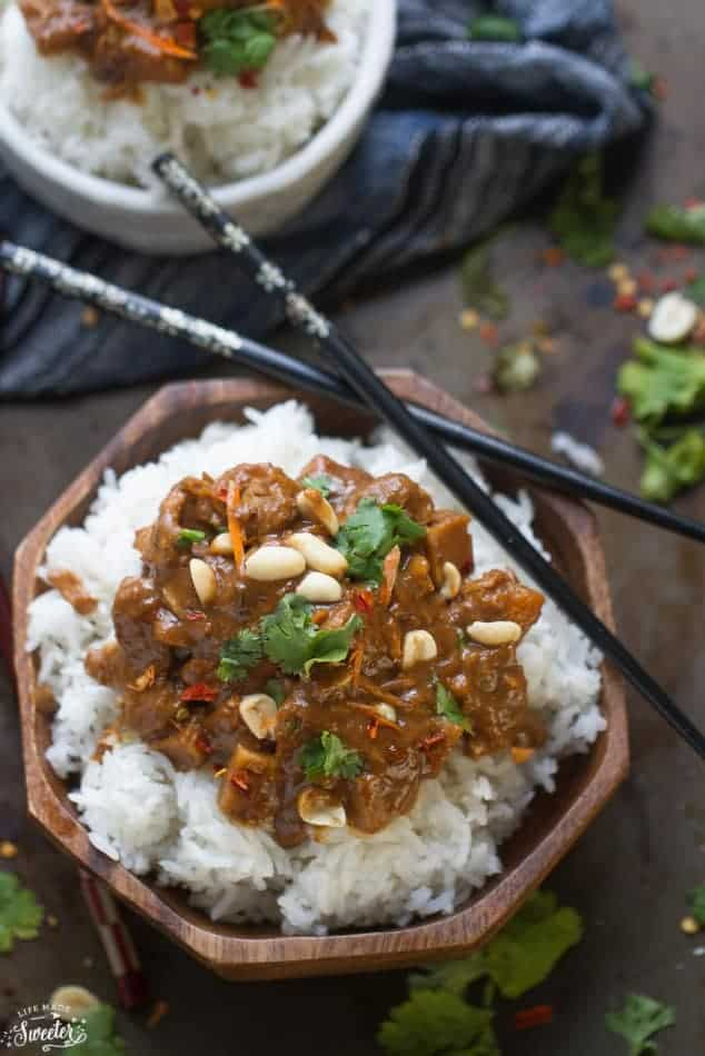 Slow Cooker Thai Peanut Chicken