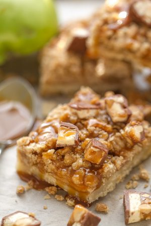 Snickers Caramel Apple Pie Bars make the perfect treat for fall