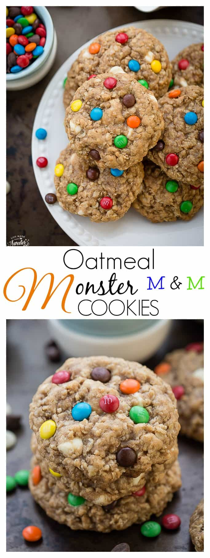 Soft & Chewy Oatmeal Monster Cookies are the perfect afternoon treat!!!