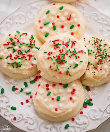 Soft Frosted Eggnog Cookies are soft, melt in your mouth and perfect for the holidays!