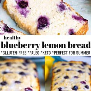 Pinterest collage for soft lemon blueberry bread