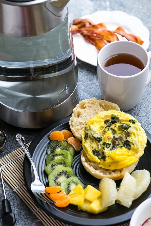 Spinach and Egg Breakfast Sandwich make the perfect easy meal. Best of all, comes together using your microwave in less than 10 minutes. Spinach and Egg Breakfast Sandwich make the perfect easy meal. Best of all, comes together using your microwave in less than 10 minutes.