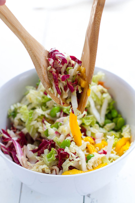 Sriracha Asian Crunchy Ramen Noodle Salad - aka Chinese Chicken Salad -  so yummy, easy & perfect for potlucks!