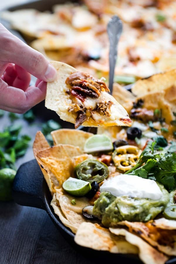 Sriracha Honey Chicken Nachos make the perfect game day appetizers or snack!!!