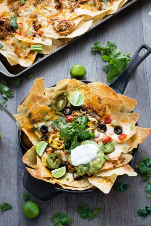 Sriracha Honey Chicken Nachos make the perfect game day snack or appetizer.