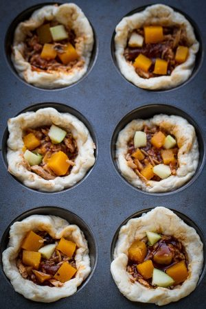 Sriracha Maple Pulled Pork Mini Pot Pies make the perfect comforting dish for fall!! (2)