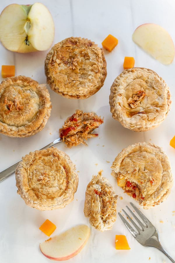 Sriracha Maple Pulled Pork Mini Pot Pies make the perfect comforting dish for fall!!
