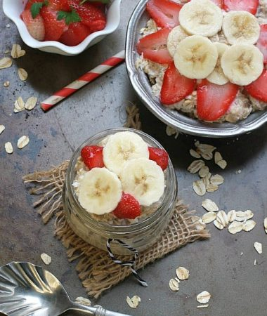 Strawberry & Banana Overnight Oats