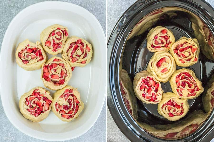 Easy Strawberry Cinnamon Rolls make the perfect indulgent treat for breakfast, brunch or even dessert. Best of all, these effortless rolls take no time at all using Pillsbury crescent roll dough, fresh strawberries and a cinnamon sugar filling. No yeast or rising required!