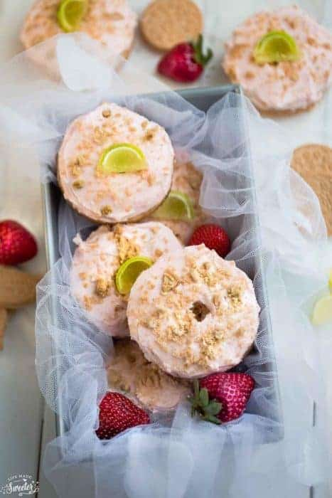 Strawberry Margarita Oreo Donuts plus a Virtual Baby Shower!