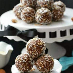 Stuffed Almond Joy Energy Bites by @LifeMadeSweeter
