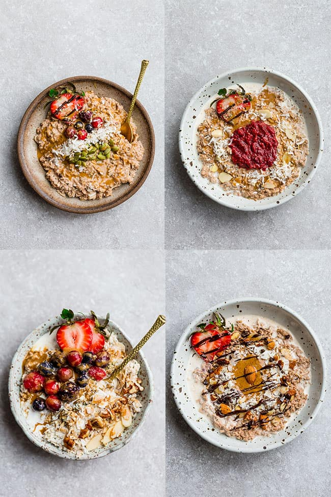 Keto Oatmeal - learn the tips and tricks on how to make a creamy and delicious bowl of paleo, low carb & sugar free oatmeal without the oats. The perfect healthy breakfast for chilly mornings.