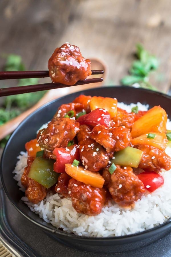 Sweet and Sour Chicken is perfect for an easy weeknight meal