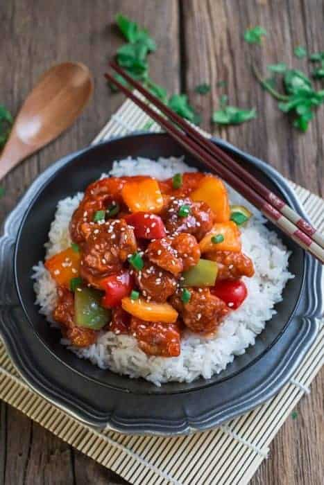 Slow Cooker Sweet and Sour Chicken (+Instant Pot) + Recipe VIDEO!