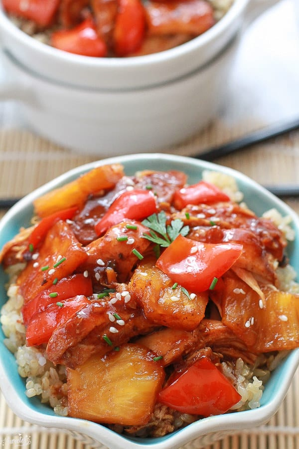Sweet and Sour Chicken with Pineapples