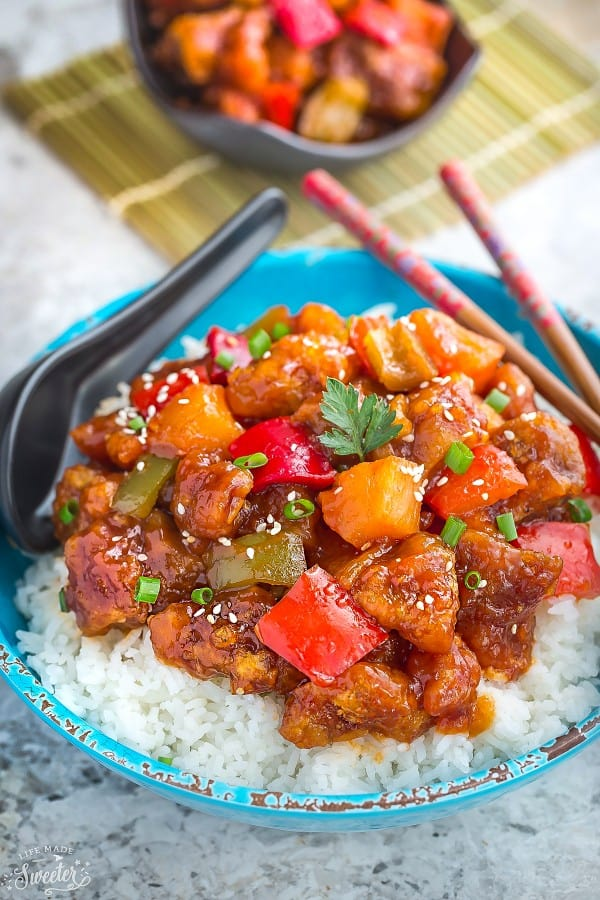 Sweet and Sour Pork makes the perfect easy weeknight meal. Best of all, this authentic dish is so much better than the restaurant takeout!