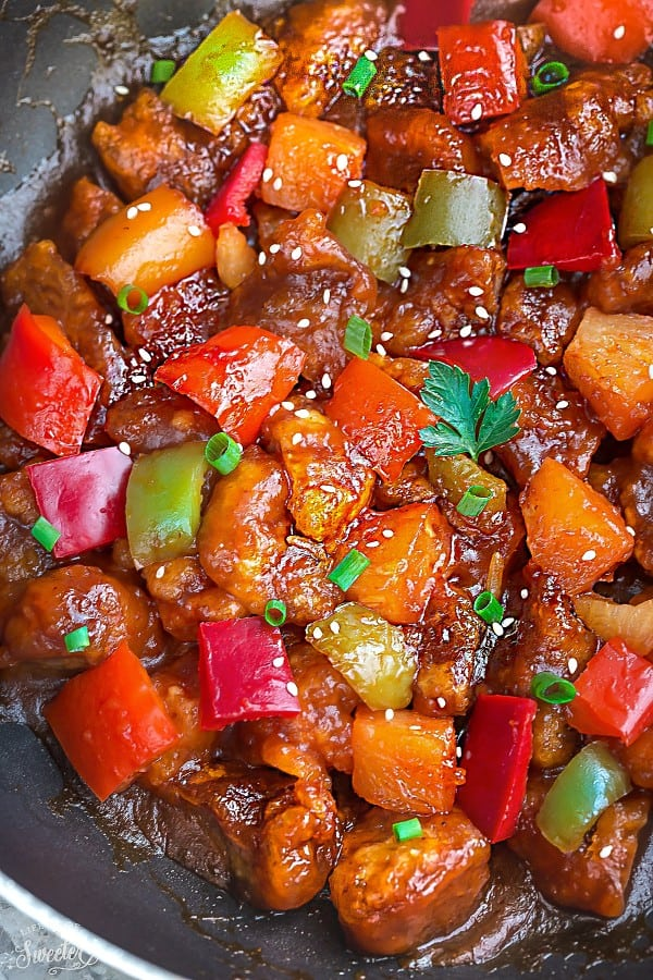 Sweet and Sour Pork makes the perfect easy weeknight meal. Best of all, this authentic dish is so much better than the resturant takeout!