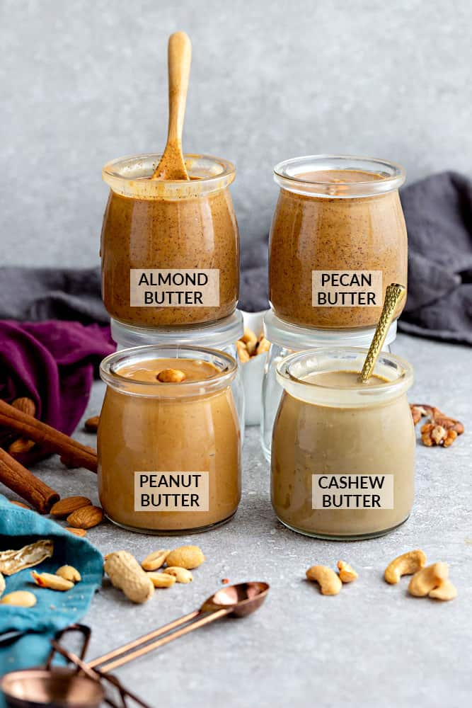 How to make Homemade Nut Butter - Learn how to tips & recipes to make healthy & delicious peanut butter, almond butter, pecan butter & creamy cashew butter.