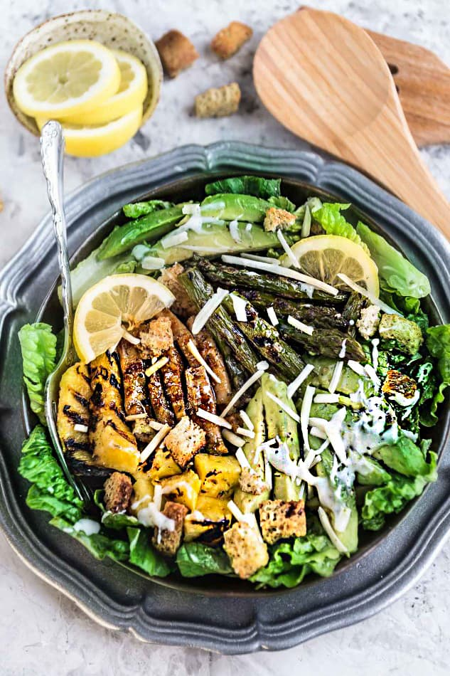 Teriyaki Chicken Caesar Salad makes the perfect healthy weeknight 30 minute meal!!