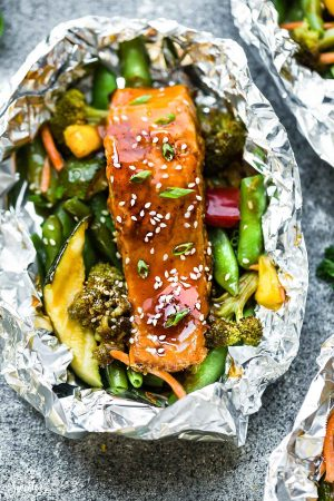 Teriyaki Salmon Foil Packets