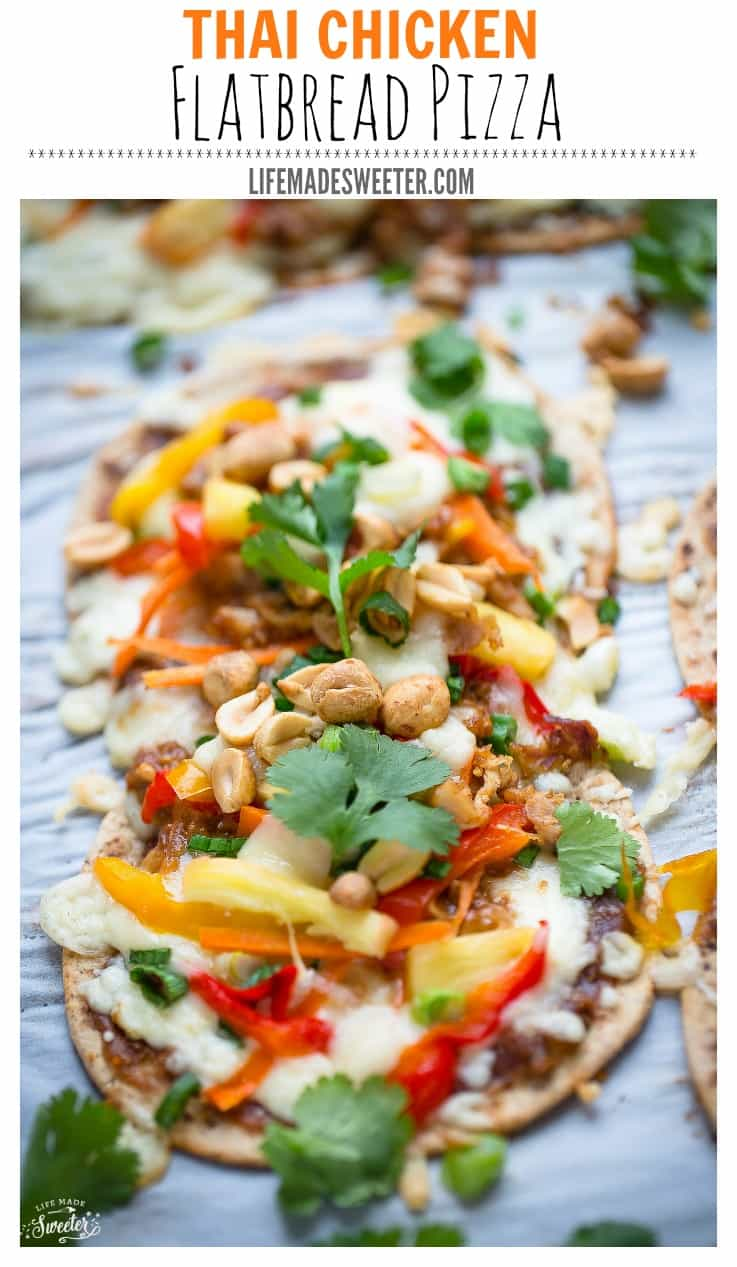 Thai Chicken Flatbread Pizza is perfect for busy weeknights..