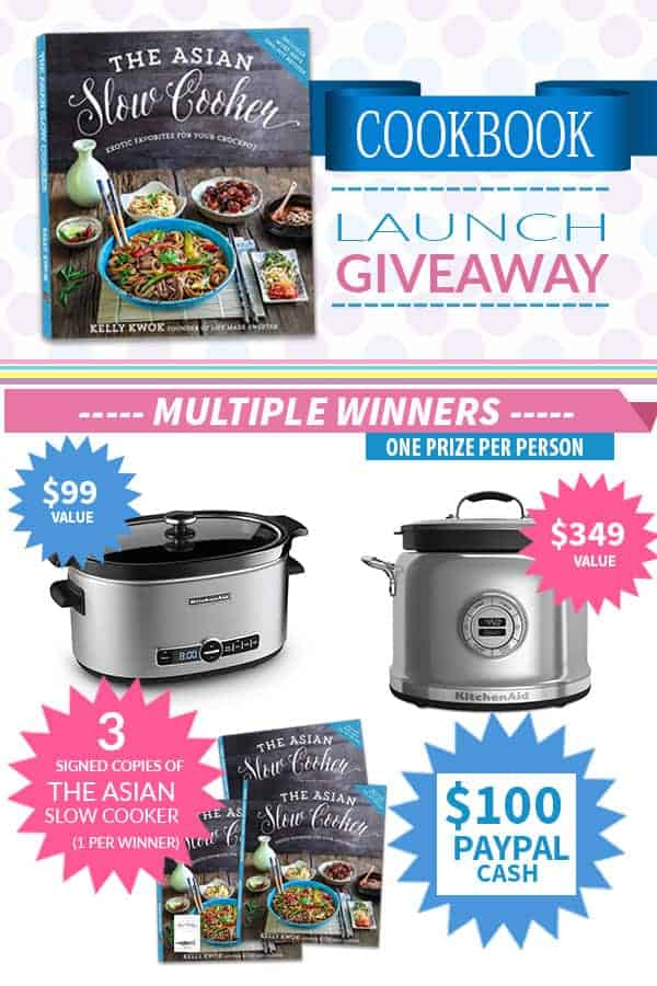Giveaway for KitchenAid Multicooker and Slow Cookerr plus $100 PayPal cash and 3 Signed copies of The Asian Slow Cooker cookbook