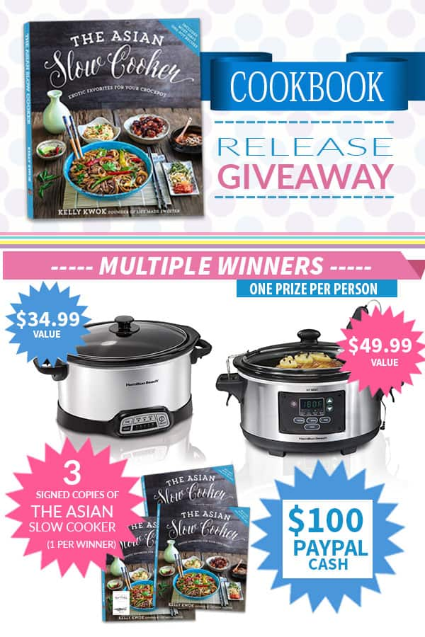 Giveaway for Hamilton Beach r plus $100 PayPal cash and 3 Signed copies of The Asian Slow Cooker cookbook
