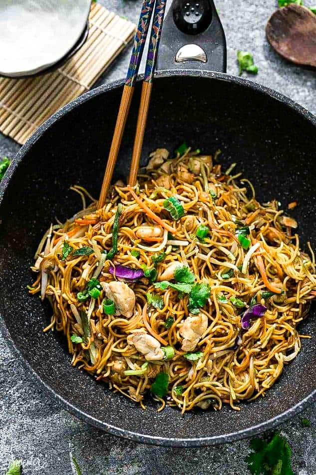 Chicken Chow Mein Easy Chinese Stir Fried Noodles Video