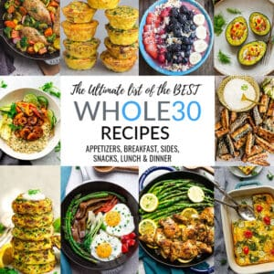 Collage of Whole30 One Pan Recipes