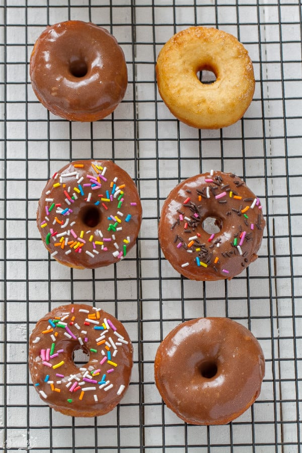 The Best Easiest Fried Donuts with Chocolate Peanut Butter Glaze