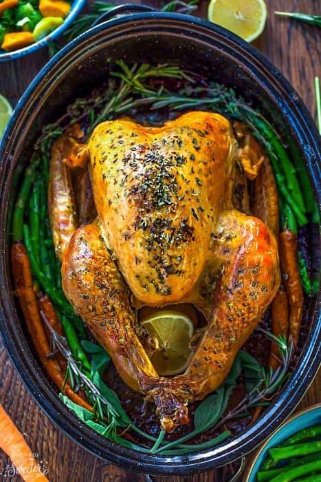 Garlic Herb Butter Roasted Turkey