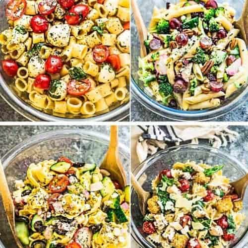 4 Ways To Make The Best Pasta Salad Easy Potluck Picnic Recipes