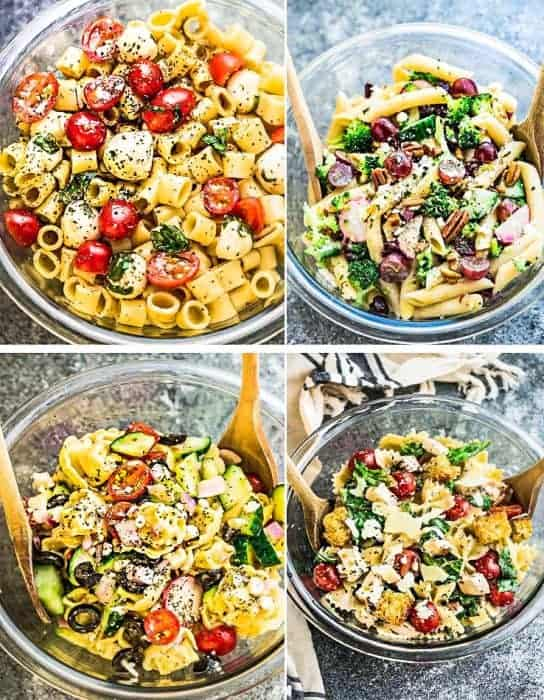Best Pasta Salads – 4 Ways – Meal Prep + VIDEO