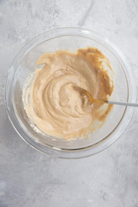 mixed batter for veganbaked oats
