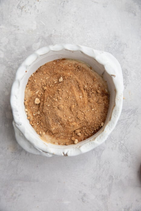 vegan baked oats ready to be baked