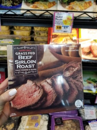 A package of Trader Joe's Beef Sirloin Roast