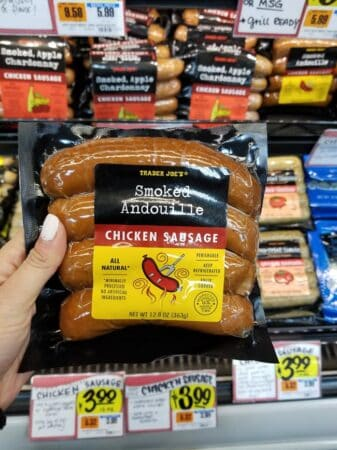 A package of Trader Joe's Smoked Andouille Chicken Sausage