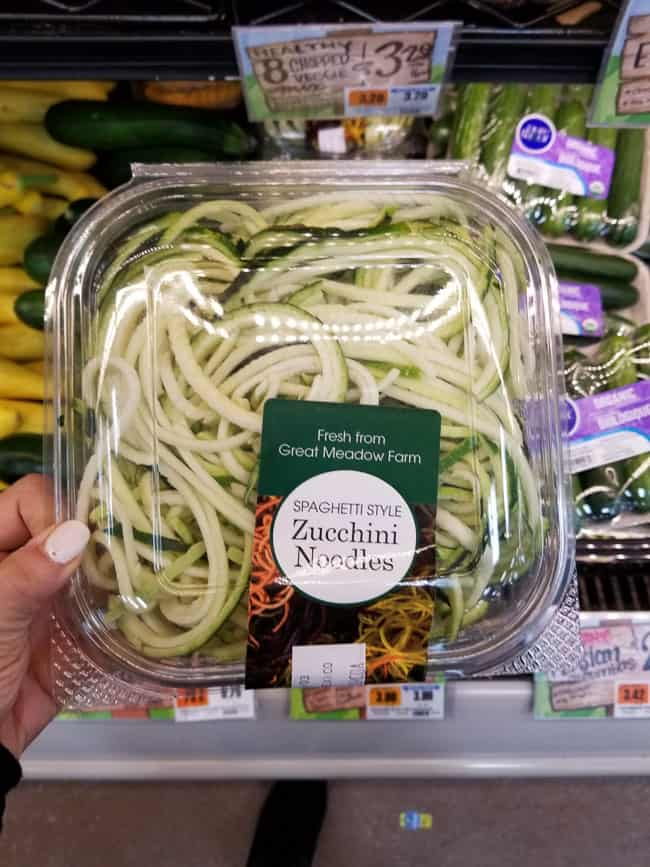 A package of Trader Joe's zucchini noodles