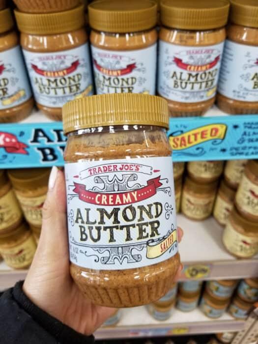 A jar of Trader Joe's almond butter